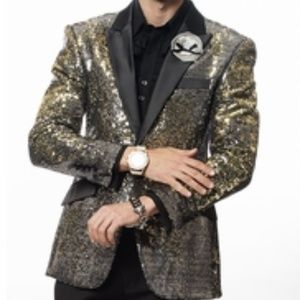 Small Gold Sequin Blazer 44L